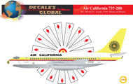 1/144 Scale Decal Air California 737-200