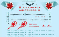 1/144 Scale Decal Air Canada Airbus A319