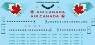 1/144 Scale Decal Air Canada Airbus A320