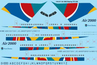 1/144 Scale Decal Air 2000 Boeing 757-200