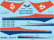 1/144 Scale Decal Cyprus Airways Boeing 707-123B