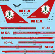 1/144 Scale Decal MEA Boeing 747-2B4 / SP