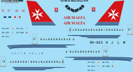 1/144 Scale Decal Air Malta Airbus A319