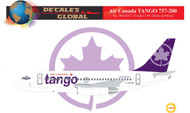 1/144 Scale Decal Air Canada Tango 737-200