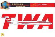 1/144 Scale Decal TWA MD-82