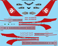 1/144 Scale Decal Air Algerie Airbus A300B4
