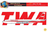 1/144 Scale Decal TWA 707-300