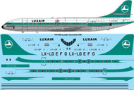 1/144 Scale Decal Luxair Caravelle