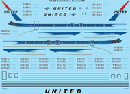1/144 Scale Decal United Airlines Caravelle 6R laser decal