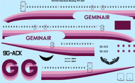 1/144 Scale Decal Geminair Boeing 707-430