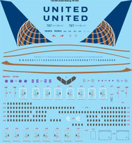1/144 Scale Decal United Airlines Boeing 787-822