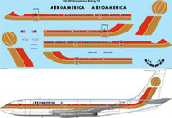 1/144 Scale Decal Aeroamerica Boeing 720
