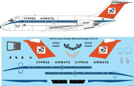 1/144 Scale Decal Cyprus Airways McDonnell Douglas DC-9-15