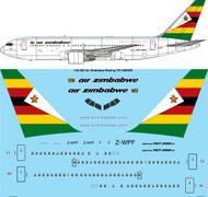 1/144 Scale Decal Air Zimbabwe Boeing 767-2N0/ER