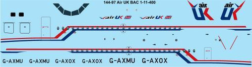 1/144 Scale Decal Air UK BAC 1-11-400