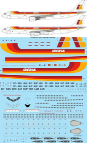 1/144 Scale Decal Iberia Airbus A330-300 & A340-300