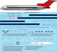 1/144 Scale Decal Northwest Orient Boeing 727-251