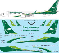 1/144 Scale Decal Iraqi Airways Boeing 737-81Z