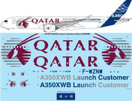 1/144 Scale Decal QATAR Launch Customer Airbus A350 XWB