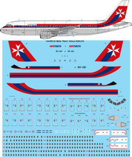 "1/144 Scale Decal Air Malta ""Retro"" Airbus A320-214"