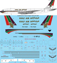 1/144 Scale Decal Gulf Air Cargo Boeing 707-338C