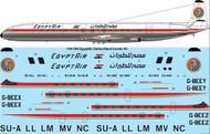 1/144 Scale Decal Egypt Air De Havilland Comet 4C