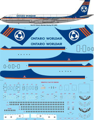 1/144 Scale Decal Ontario Worldair Boeing 707-338C