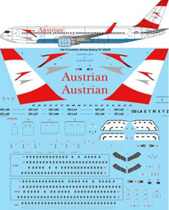 1/144 Scale Decal Austrian Airlines Boeing 767-3Z9/ER