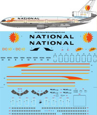1/144 Scale Decal National McDonnell Douglas DC-10-30