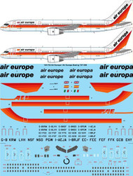 1/144 Scale Decal Air Europe / Air Europa Boeing 757