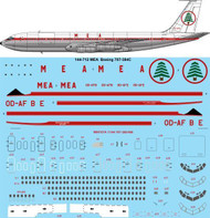 1/144 Scale Decal MEA Delivery Boeing 707-384C