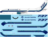 1/144 Scale Decal Eastern Airlines Boeing 737-8AL