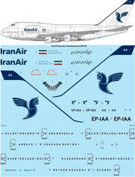 "1/144 Scale Decal Iran Air ""Final"" Boeing 747SP-86"