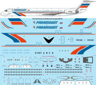 1/144 Scale Decal Paramount McDonnell Douglas MD-83
