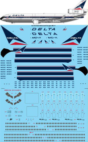 1/144 Scale Decal Delta McDonnell Douglas MD-11