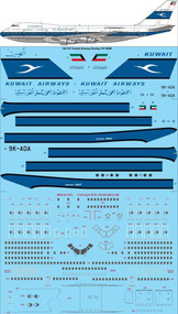 1/144 Scale Decal Kuwait Airways Boeing 747-269B