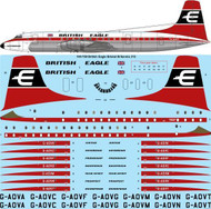 1/144 Scale Decal British Eagle Bristol Britannia 312
