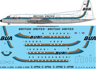 1/144 Scale Decal BUA British United Bristol Britannia 317