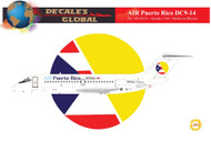 1/144 Scale Decal Air Puerto Rico DC9-14