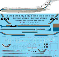 1/144 Scale Decal BUA British United Vickers VC10