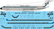 1/144 Scale Decal BUA British United BAC 1-11 501EX