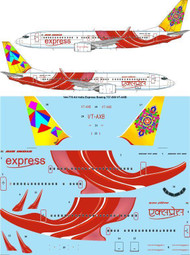 1/144 Scale Decal Air India Express Boeing 737-800 VT-AXB