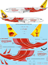 1/144 Scale Decal Air India Express Boeing 737-800 VT-AXD