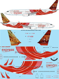 1/144 Scale Decal Air India Express Boeing 737-800 VT-AXM