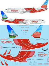 1/144 Scale Decal Air India Express Boeing 737-800 VT-AXN