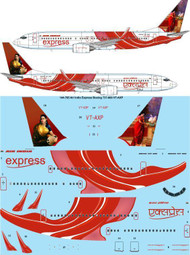 1/144 Scale Decal Air India Express Boeing 737-800 VT-AXP