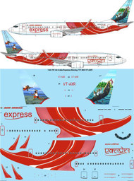 1/144 Scale Decal Air India Express Boeing 737-800 VT-AXR