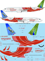 1/144 Scale Decal Air India Express Boeing 737-800 VT-AXT