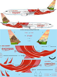 1/144 Scale Decal Air India Express Boeing 737-800 VT-AXV