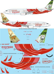 1/144 Scale Decal Air India Express Boeing 737-800 VT-AYB